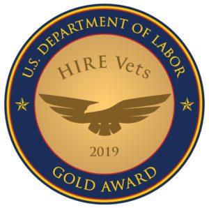 Gold HIRE Vets Medallion